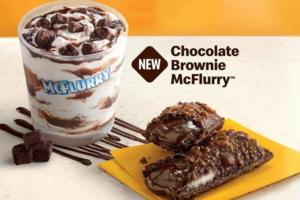 麥當勞冬日新款甜品 馬來西亞限定! 朱古力Brownies麥旋風雪糕/流心朱古力布朗尼批