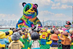 捷克藝術家用樂高砌成巨型熊貓 登陸尖沙咀
