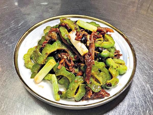 宵夜罐頭#涼瓜炒豆豉鯪魚