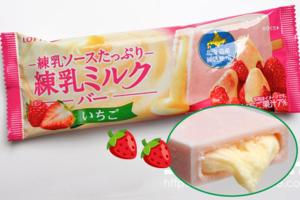 【日本便利店必買2021】日本樂天草莓煉奶雪條  加入7%士多啤梨果汁+北海道煉奶