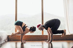 原子鏸懷孕6個月照玩瑜伽