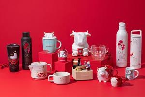 【新年禮盒2021】香港Starbucks星巴克新推新春賀年禮盒/情人節商品系列 新春牛年咖啡杯/麥蘆卡蜂蜜薑汁紅茶/茶具套裝