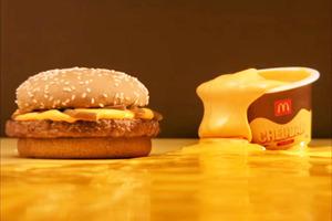 【麥當勞美食】外國麥當勞單售100g超濃郁車打芝士醬 沾滿整個漢堡包食一流!