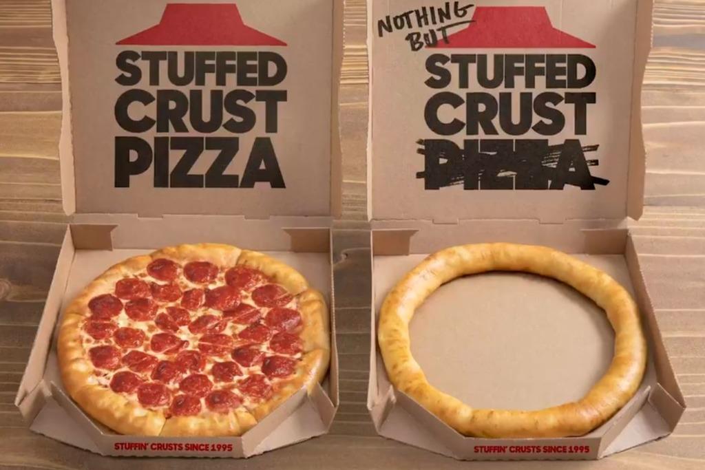 【Pizza Hut新品】外國Pizza Hut推出超創新期間限定 芝士控最愛淨芝心批邊!