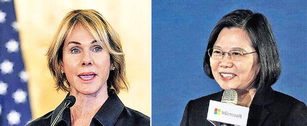 美駐聯大使與蔡英文通話 北京警告將付沉重代價