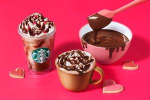 【日本Starbucks】日本Starbucks推出情人節限定飲品 超濃郁3重生朱古力星冰樂/Mocha