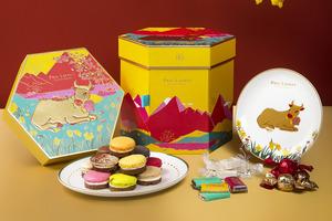 【新年禮盒2021】法式甜品店Paul Lafayet賀年禮盒系列 3層金牛禮盒/朱古力曲奇馬卡龍/糖果/早鳥優惠