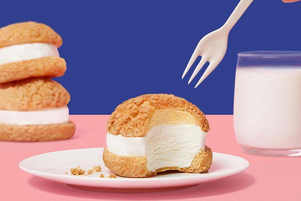 【韓國甜品】韓國BR雪糕甜品專門店推出新品 超吸引牛乳雪糕夾心脆皮菠蘿包!