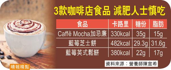 歎大杯Mocha食件cake 高卡高糖易致肥