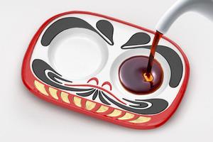 【廚具用品】日本超創意新年豉油碟廚具精品  倒入豉油即變達摩公仔招好運!