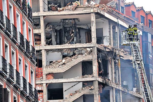 住宅氣體洩漏 馬德里爆炸15死傷