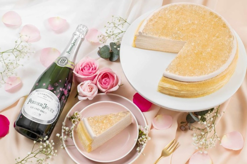 【Lady M】Lady M情人節期間限定!全新推出Perrier-Jouët 香檳千層蛋糕