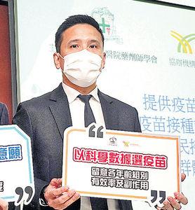 港3成人願打疫苗 33%唔打怕副作用 盧寵茂倡主動索國藥數據 爭早日到港