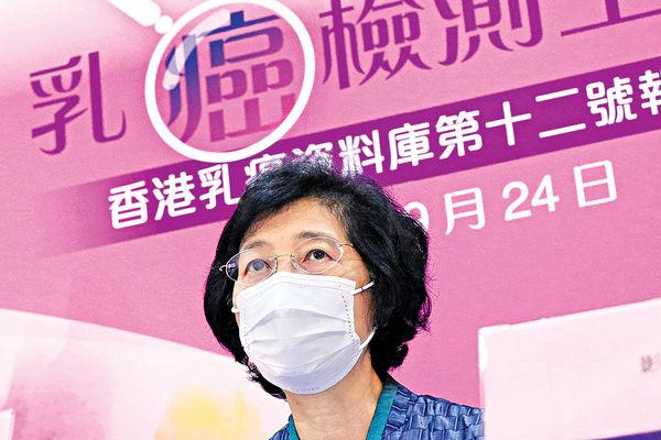 港每14名婦女 1人有機會患乳癌
