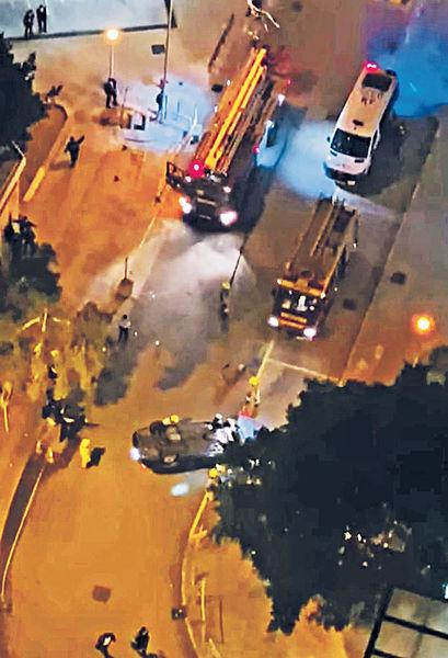 拒截查警開槍 毒品快餐車翻側3人被捕