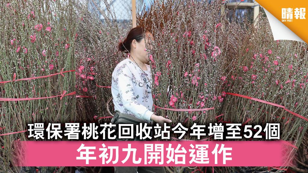 農曆新年  環保署桃花回收站今年增至52個 年初九開始運作