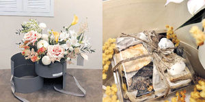 情人節撞正初三 店家變招玩花款 千元以下花束受捧 鈎織花甜品禮盒供「放閃」