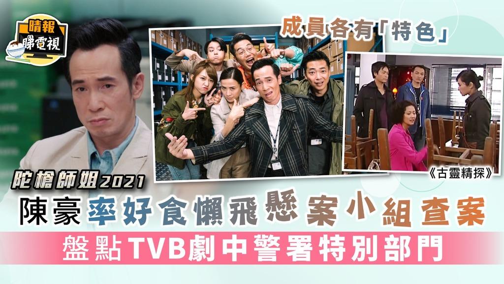 陀槍師姐2021|陳豪率好食懶飛懸案小組查案 盤點TVB劇中警署特別部門