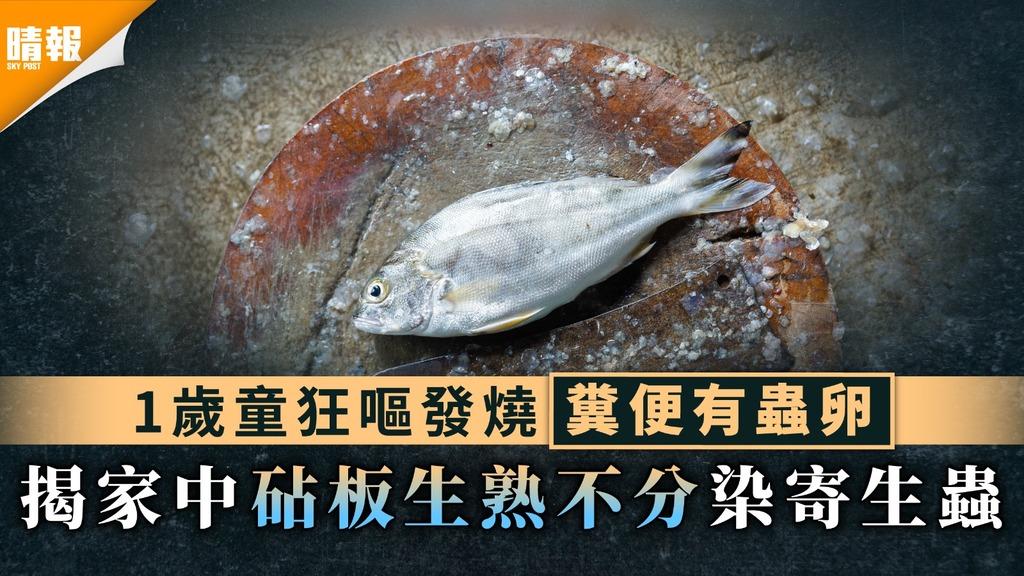 食用安全|1歲童狂嘔發燒糞便有蟲卵 揭家中砧板生熟不分染寄生蟲