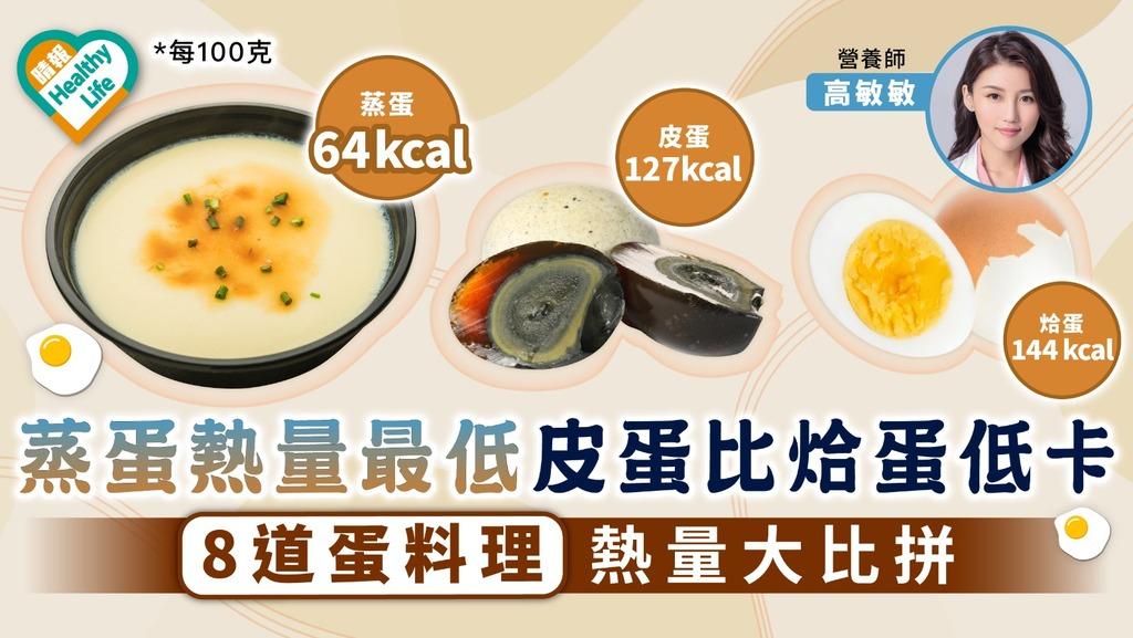補充蛋白質|蒸蛋熱量最低皮蛋比烚蛋低卡 8道蛋料理熱量大比拼