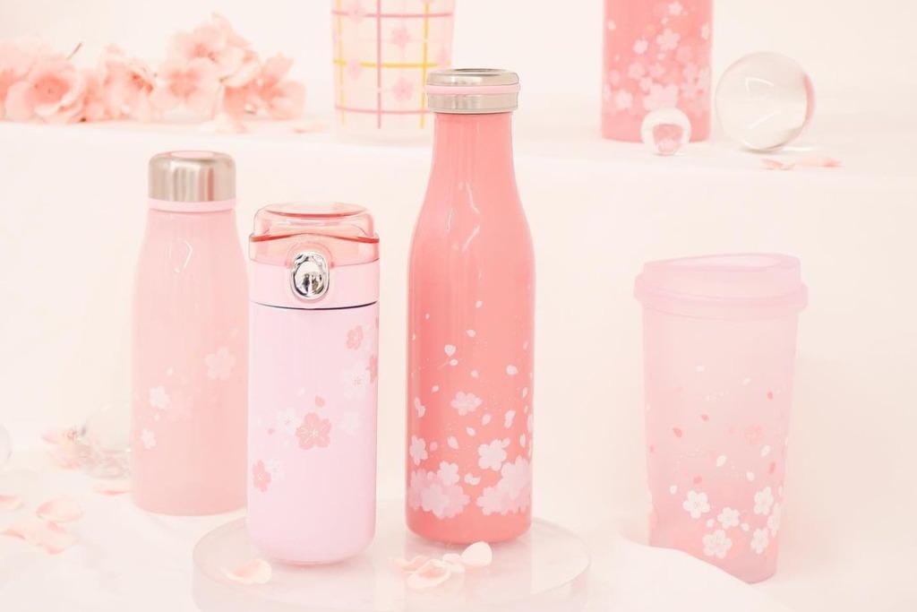 【韓國DAISO】韓國Daiso推出2021櫻花系列產品 1000WON買到超精美冷水杯/酒杯/醬油碟