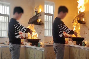 【新年2021】入廚新手女婿農曆新年到外母煮團年飯  猛火燒著抽油煙機仍淡定繼續煮
