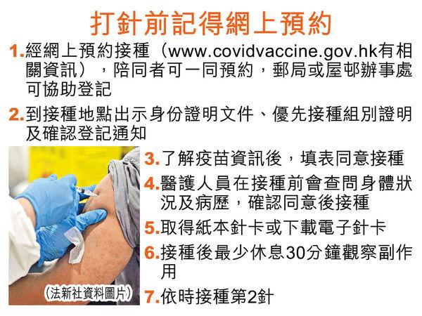 100萬劑科興今抵港 下周二起網上預約 下周五可打疫苗 5群組優先