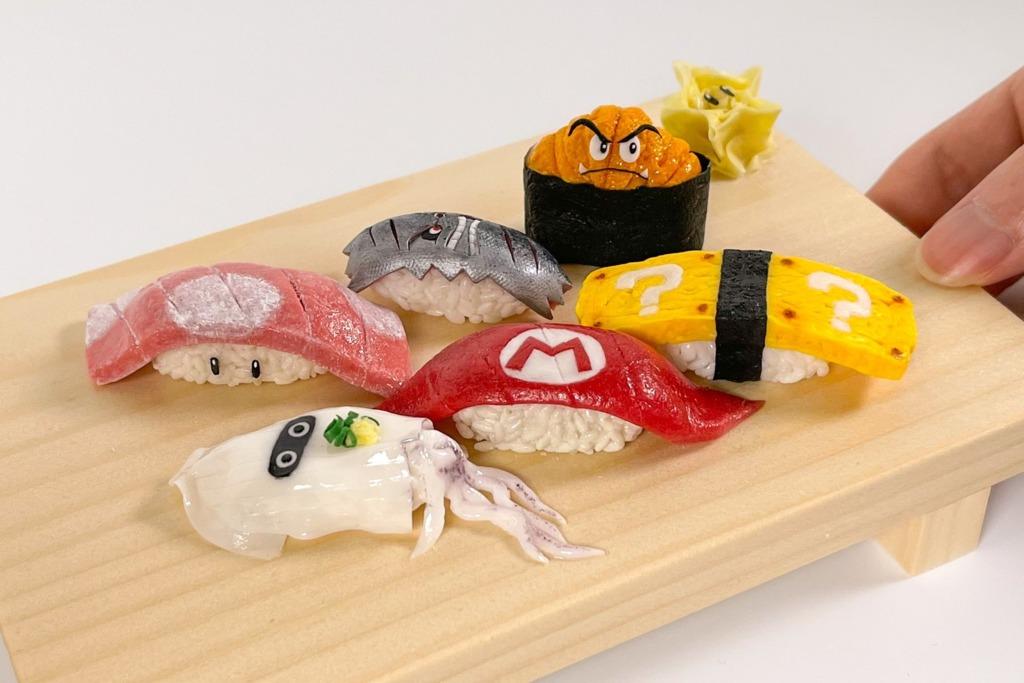 【Mario精品】日本粘土達人創意自製Mario造型壽司   神還原墨魚/巨石/磚塊