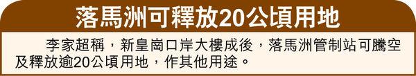 新皇崗口岸最快2023年落成 實施一地兩檢