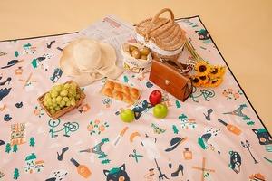 【野餐墊哪裡買】7款防水易收納打卡野餐墊款式推薦 Pinkoi網店就買到!特大版經典格紋/文青圖案/可愛印花