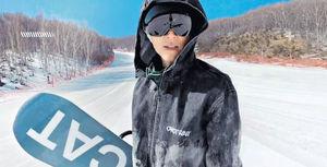 高難度滑雪動作嚇窒Mani 謝霆鋒挑機︰有本事來抓