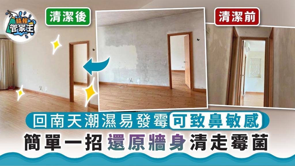 潮濕回南天|回南天潮濕易發霉可致鼻敏感 簡單一招還原牆身清走霉菌