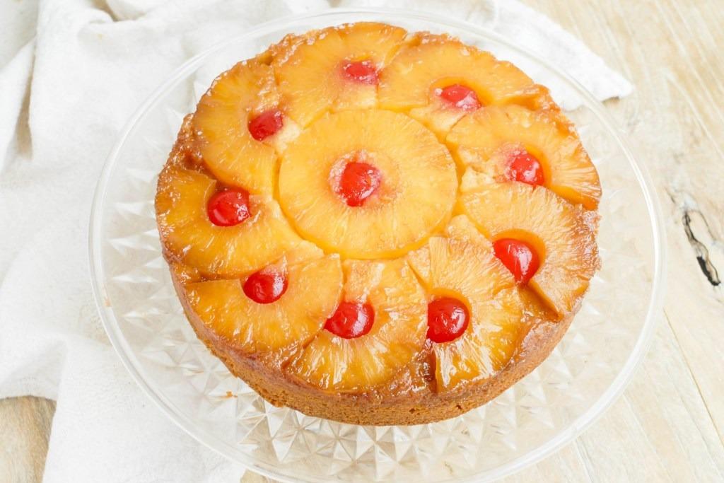【鳳梨食譜】零失敗簡易蛋糕食譜 焦糖菠蘿倒轉蛋糕