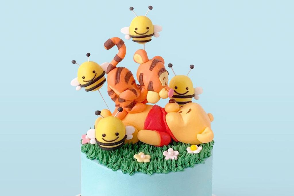 【生日蛋糕推薦|復活節蛋糕2021】中環Vive Cake 打卡小熊維尼蛋糕 Pooh Pooh/Lulu豬立體卡通造型超可愛!