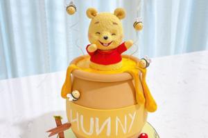 【生日蛋糕推薦 2021】IG網店可愛小熊維尼蛋糕 3D立體Pooh Pooh卡通蛋糕造型超精緻!