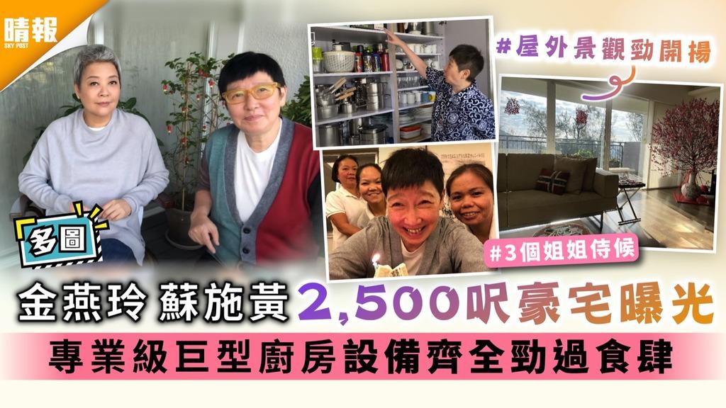 多圖︱蘇施黃 金燕玲2,500呎豪宅曝光 專業級巨型廚房設備齊全勁過食肆