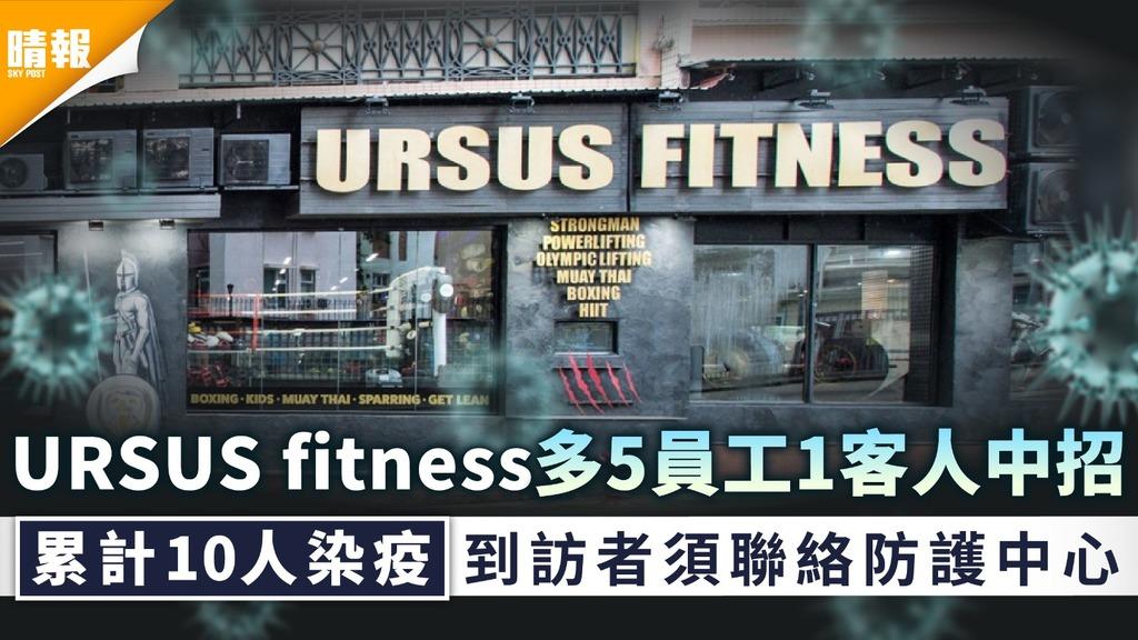 新冠肺炎 感染擴大 URSUS fitness累計10人中招 最少5人為員工