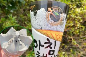 【韓國便利店必買 2021】特濃黑芝麻雪糕甜筒登陸韓國便利店 加入煙韌黑芝麻年糕粒/超香濃似芝麻糊!