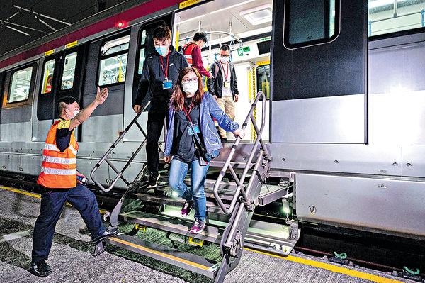 港鐵演習模擬列車事故 預備屯馬綫年內全綫開通