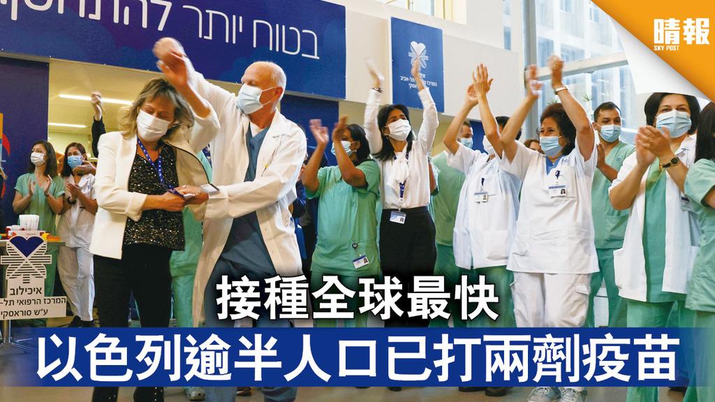 新冠疫苗|接種全球最快 以色列逾半人口已打兩劑疫苗