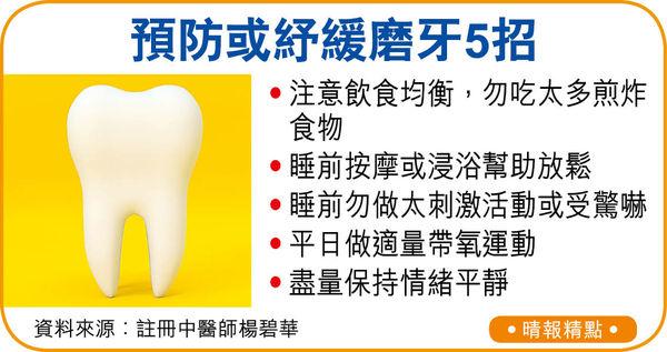 小孩積熱食滯 引發磨牙