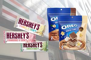 【便利店新品】7-Eleven新品Hershey's  彩虹碎奶油/士多啤梨奶油/曲奇薄荷朱古力