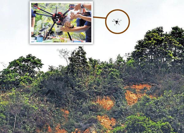 土力處研無人機播種 修復斜坡「禿痕」 去年214宗山泥傾瀉 年增逾6成
