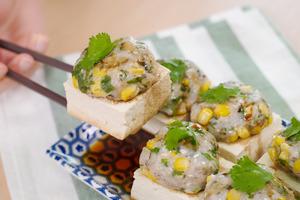 【中式食譜】15分鐘簡單3步中式家常菜晚餐 芫荽粟米魚肉蒸豆腐