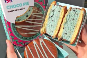 【韓國美食】韓國BR薄荷朱古力脆皮雪糕批 薄荷雪糕+朱古力粒+脆皮蛋糕!