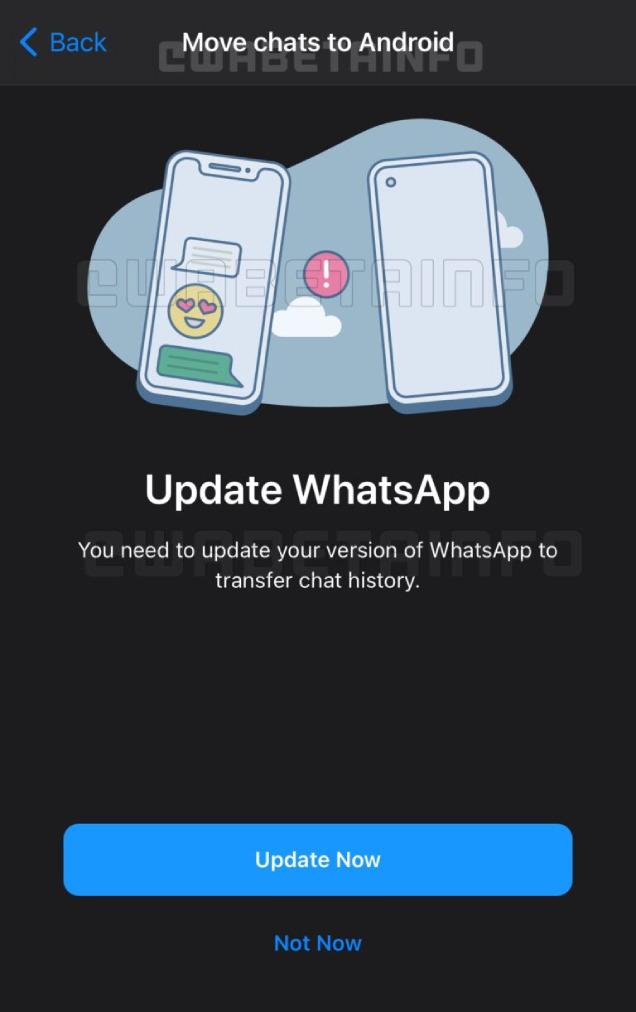 WhatsApp的新功能是什么? 苹果手机。  Android可以通过平台-ezone.hk-Technology Focus-5G Mobile传输对话日志