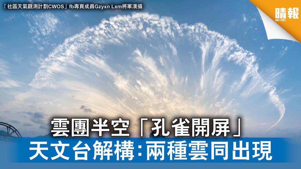 天文現象 雲團半空「孔雀開屏」 天文台解構:兩種雲同出現(多圖)