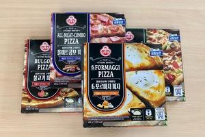 簡易宵夜必備 韓國即食食品裝造商不倒翁 (Ottogi) 石烤餅底Pizza :六重芝士/綜合辣肉腸/韓式烤肉/傳統雜錦口味
