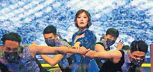 《開心大綜藝》首播強撼《口罩小姐》 王祖藍惡搞特首變藍太