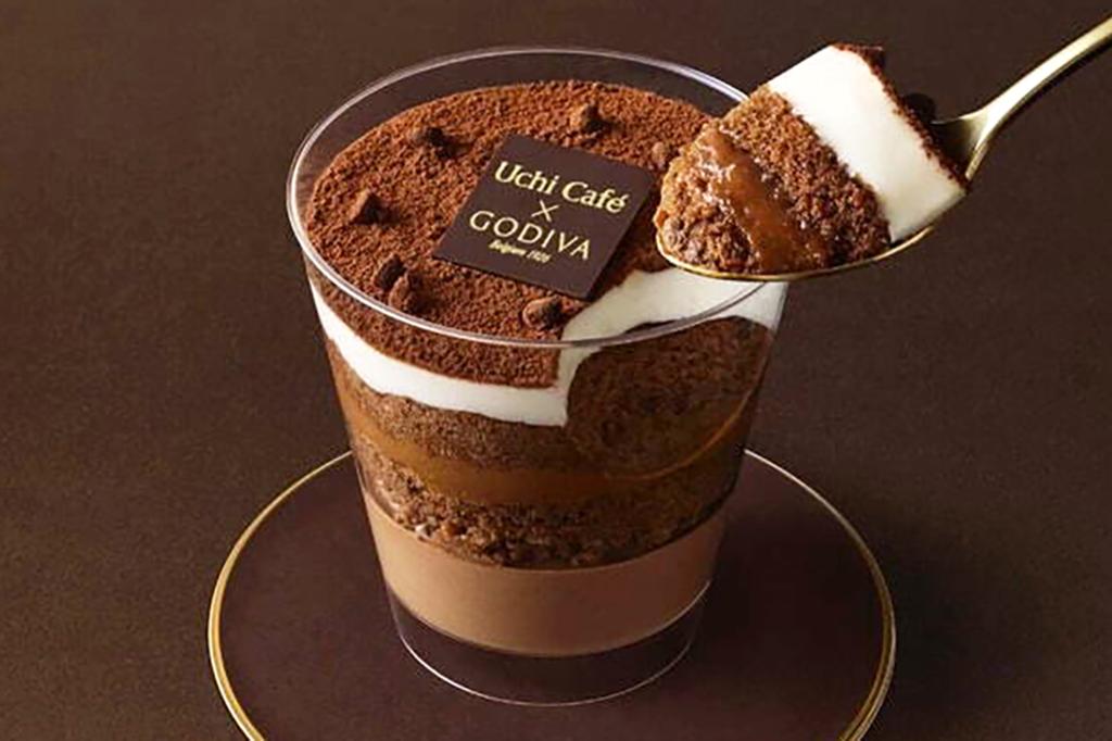 【日本便利店2021】日本GODIVA 五重朱古力蛋糕甜品杯 朱古力味超濃郁/一啖5種口感!